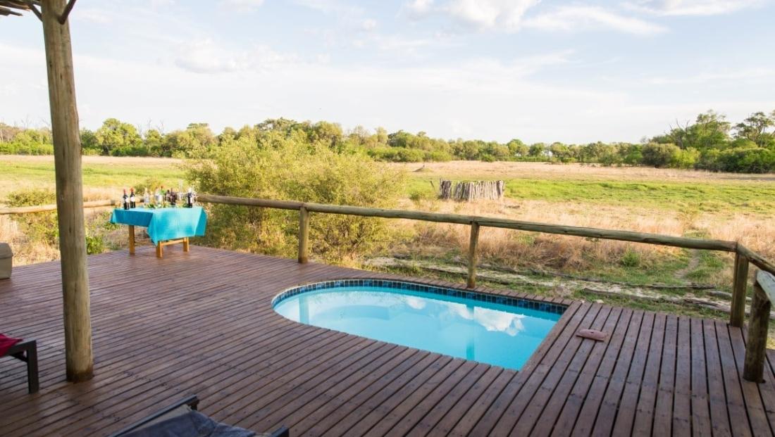 Sango Safari Camp - Klein zwembad met uitzicht over de natuur