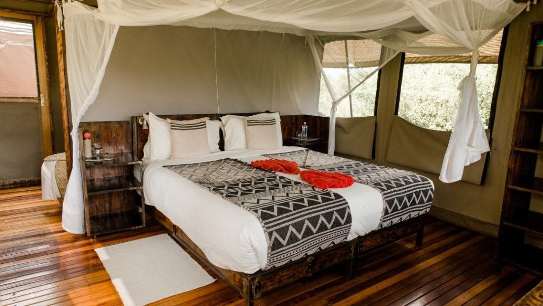 Sango Safari Camp - Ruime en-suite safari tent