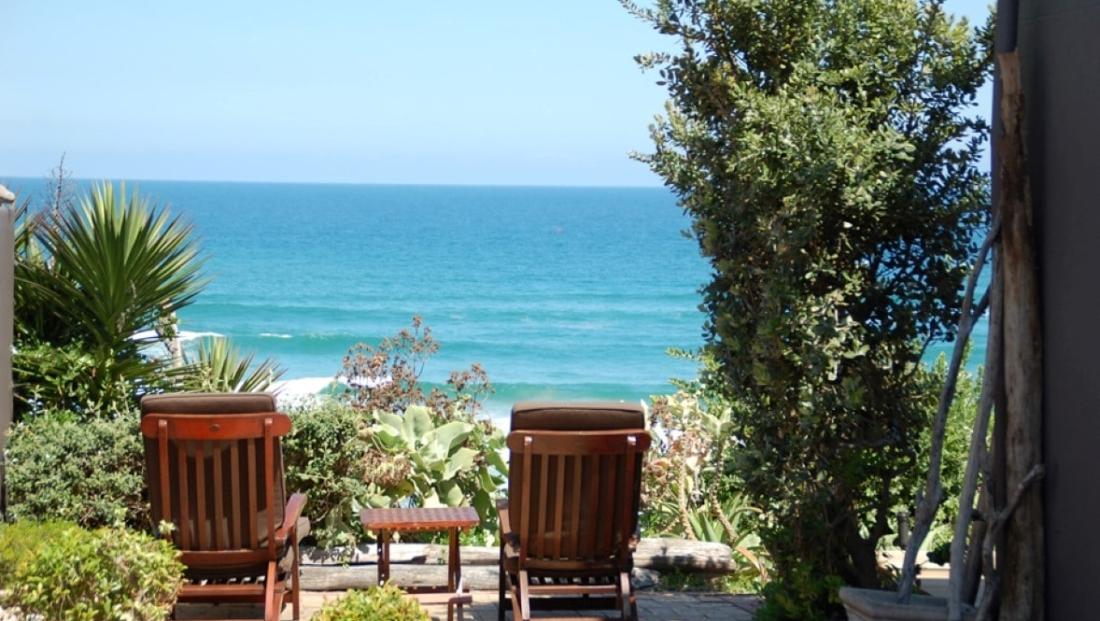 Dune Beach House - zitje met uitzicht op zee