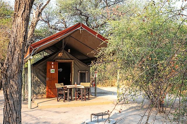 Tshima Bush Camp - Tent met eigen terrasje