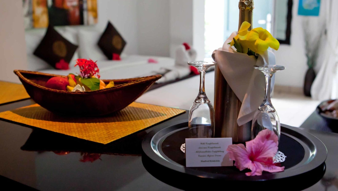 Hanneman Resort - champagne op hotelkamer