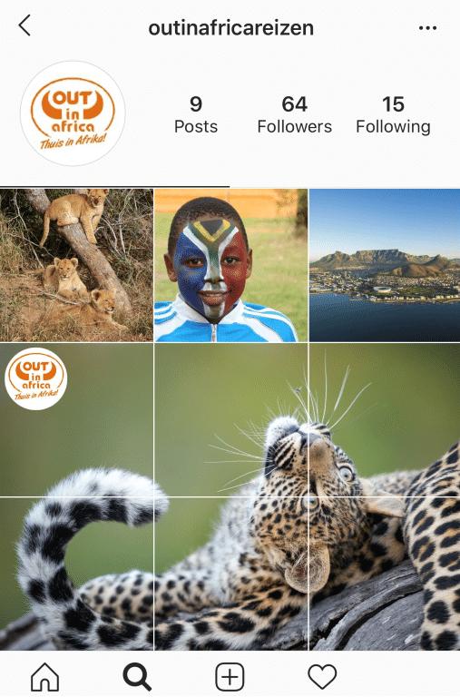 Nieuwsbrief Out in Africa - Volg ons op Instagram en Facebook