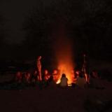 Rangercursussen: samen om een kampvuur, soms tijdens een overnachting midden in de bush.