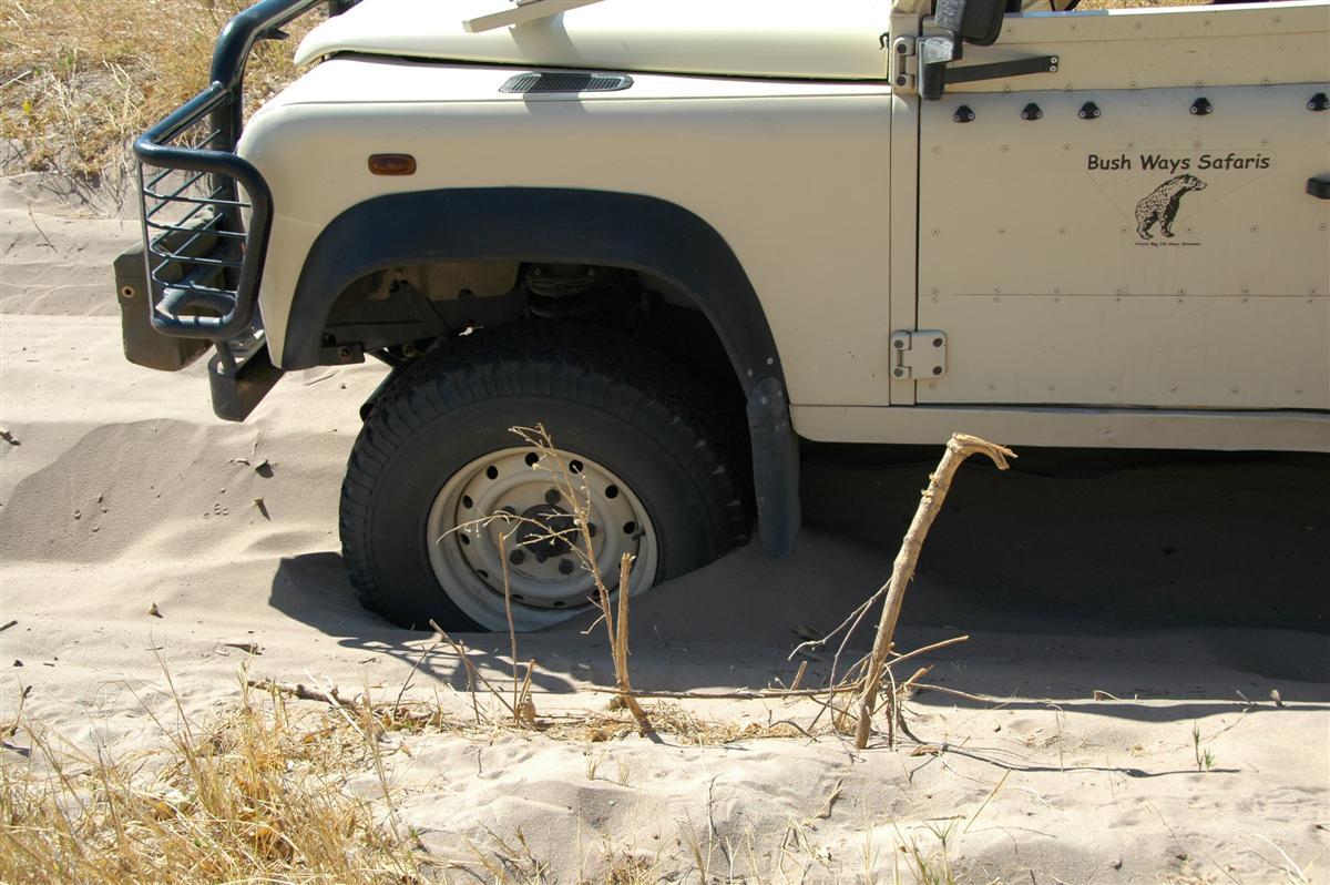 Individuele reizen Botswana: In sommige gebieden kunt u beter niet zelf rijden...