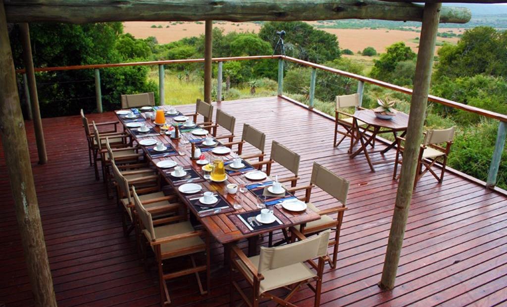 Woodbury Tented Camp - mooi uitzicht tijdens eten