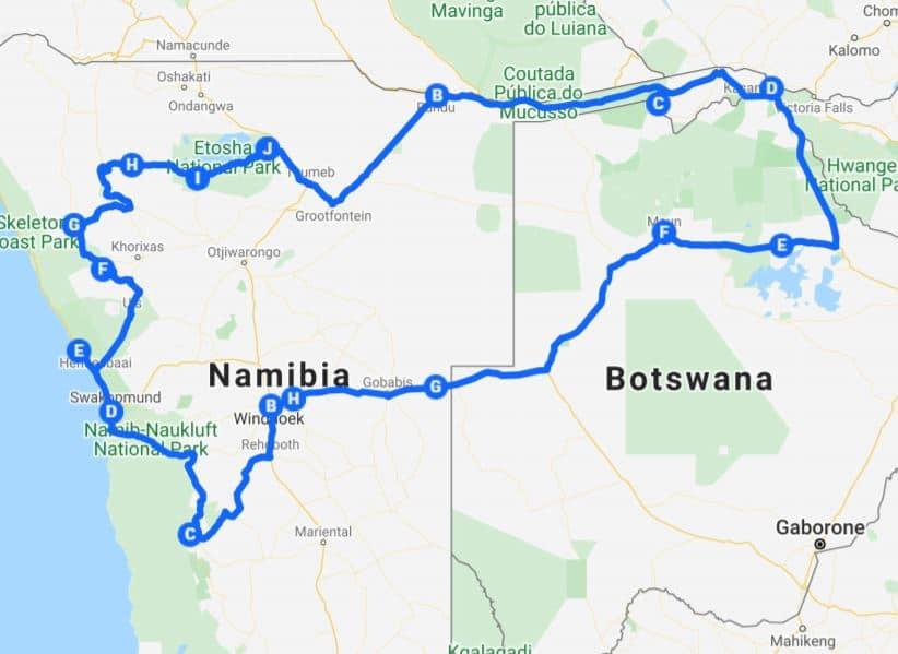Kamperen Botswana: Een kampeerreis in combinatie met Namibië is ook erg populair.