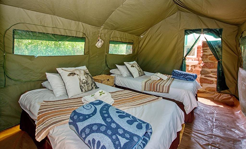 Brandberg White Lady Lodge - Slaapkamer en-suite safari tent