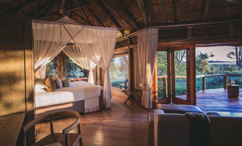 Camp Moremi - Ruime kamers met uitzicht over de natuur