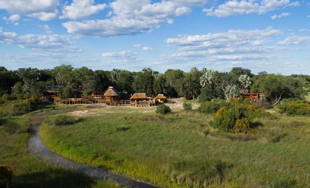 Camp Okavango - Het kamp ligt midden in de bush