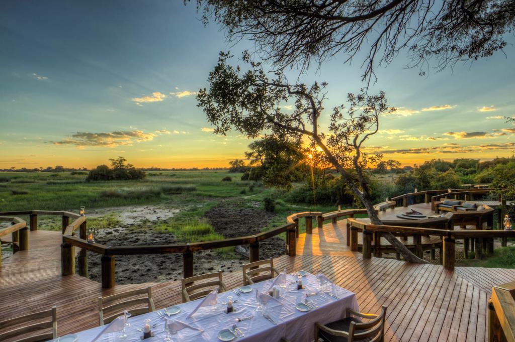 Luxe reizen Botswana: Uitzicht vanaf Camp Okavango (Desert & Delta)