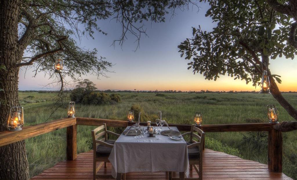 Camp Okavango - Privé diner bij kaarslicht