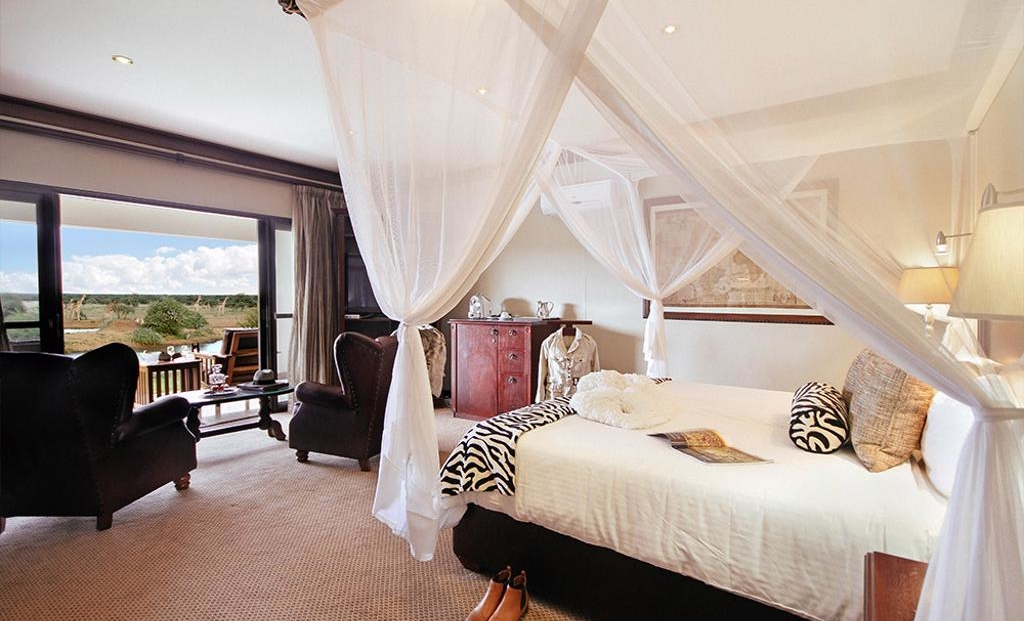 Erindi Old Traders Lodge - slaapkamer uitzicht