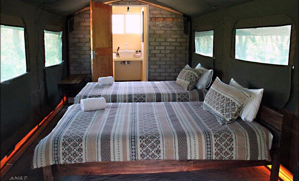 Fiume Bush camp - slaapkamer tented
