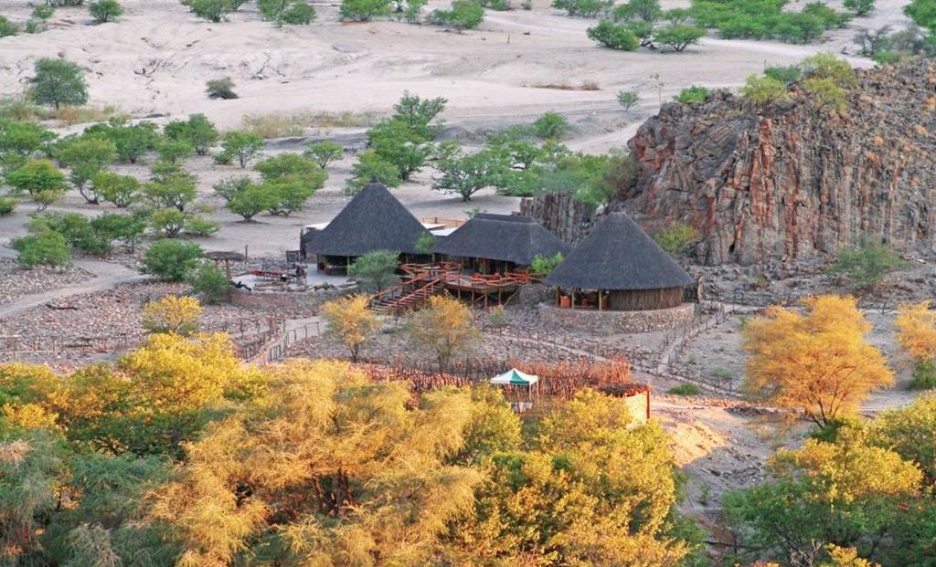 Khowarib Lodge - van bovenaf gezien