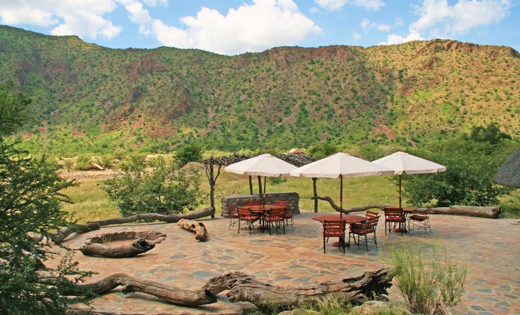 Khowarib Lodge - terras