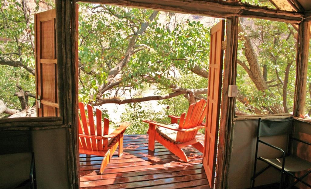 Khowarib Lodge - uitzicht kamer