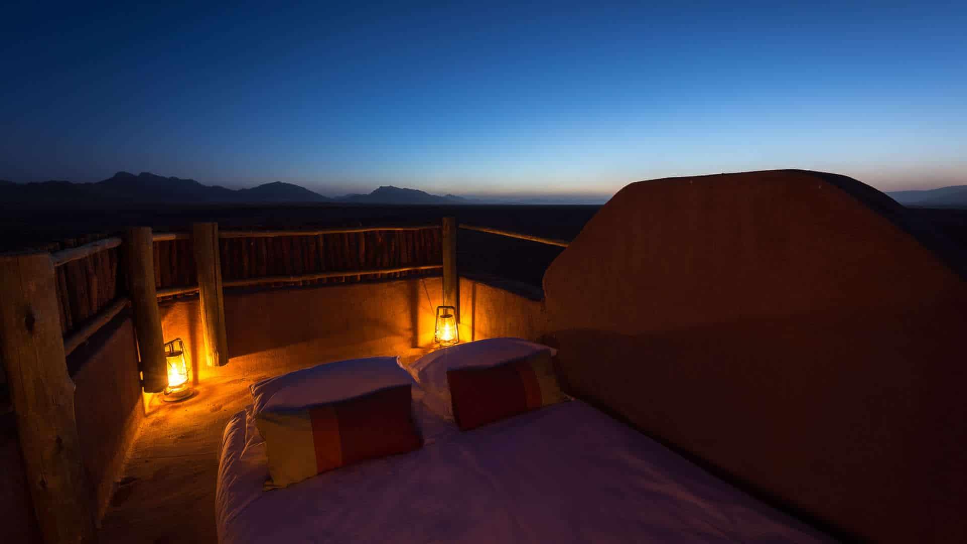 Luxe reizen Afrika - Slapen onder de sterren bij Kulala Desert Lodge, in de Sossusvlei