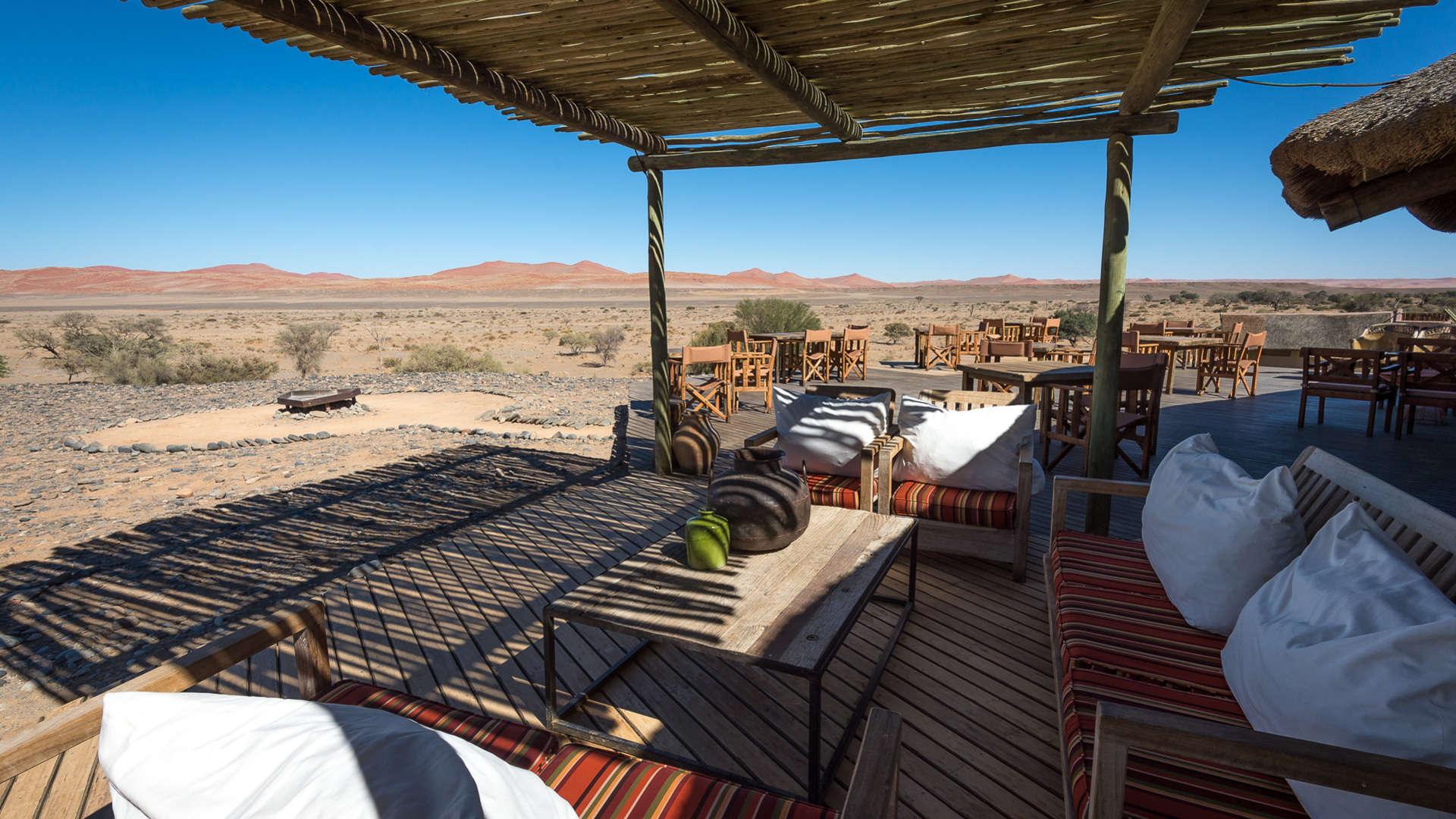 Luxe reizen Namibië - Locatie is belangrijk bij exclusieve bestemmingen in Namibië.