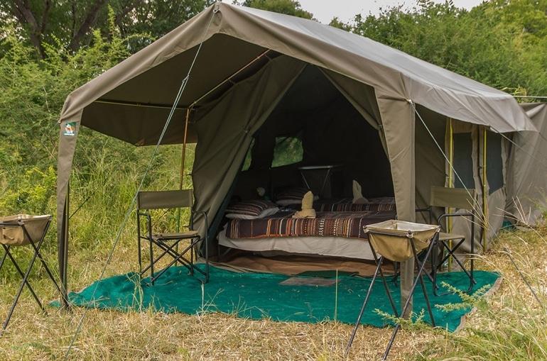 Luxe reizen Botswana: Een mobiele safari is meestal tot in de puntjes verzorgd.