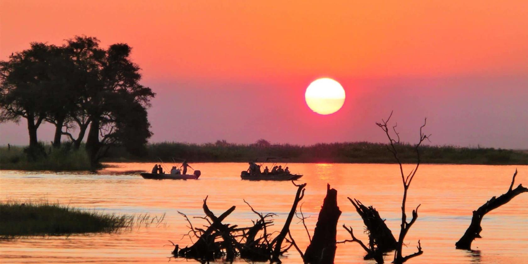 Chobe National Park - Zonsondergang Chobe Rivier