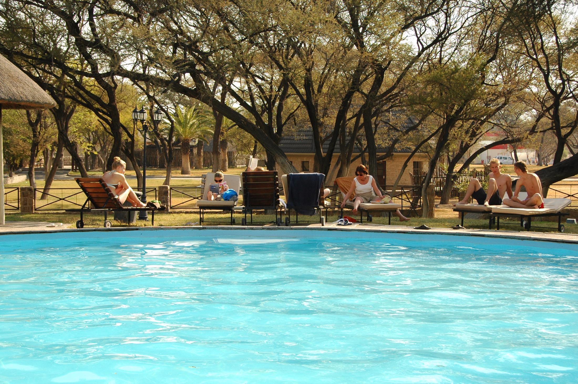 Familiereizen Namibië - Veel kampen hebben een zwembad, ook in de nationale parken