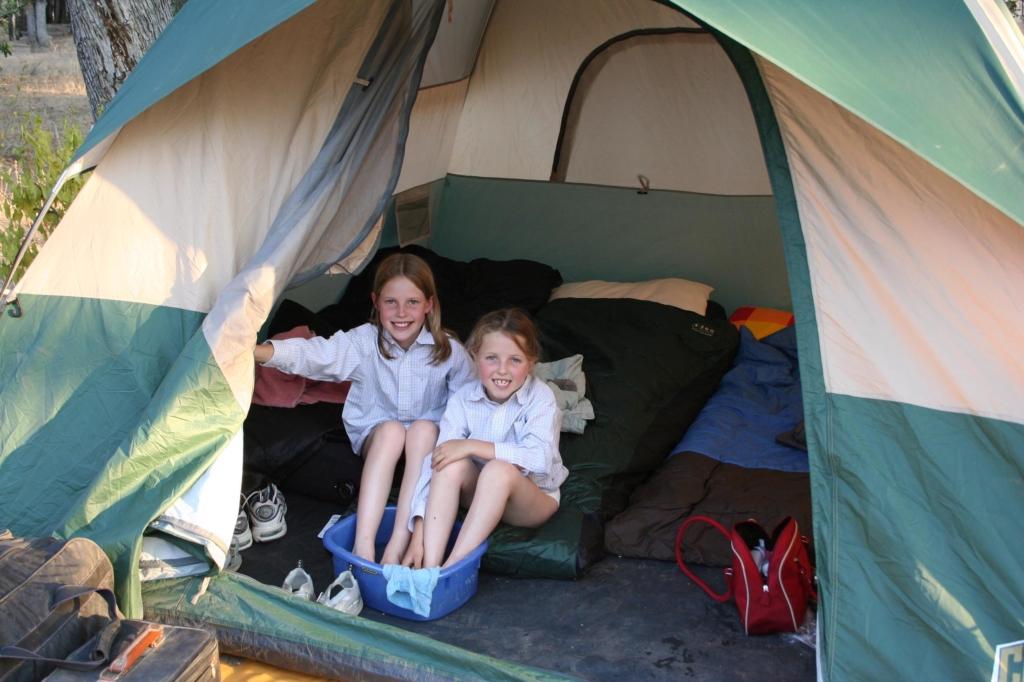 Op safari met jonge kinderen - kinderen kamperen