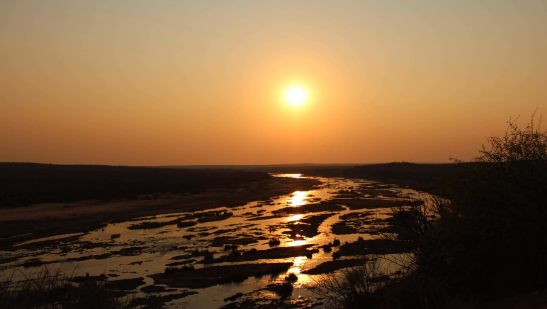 Kruger National Park - Uitzicht Olifants rivier bij zonsondergang