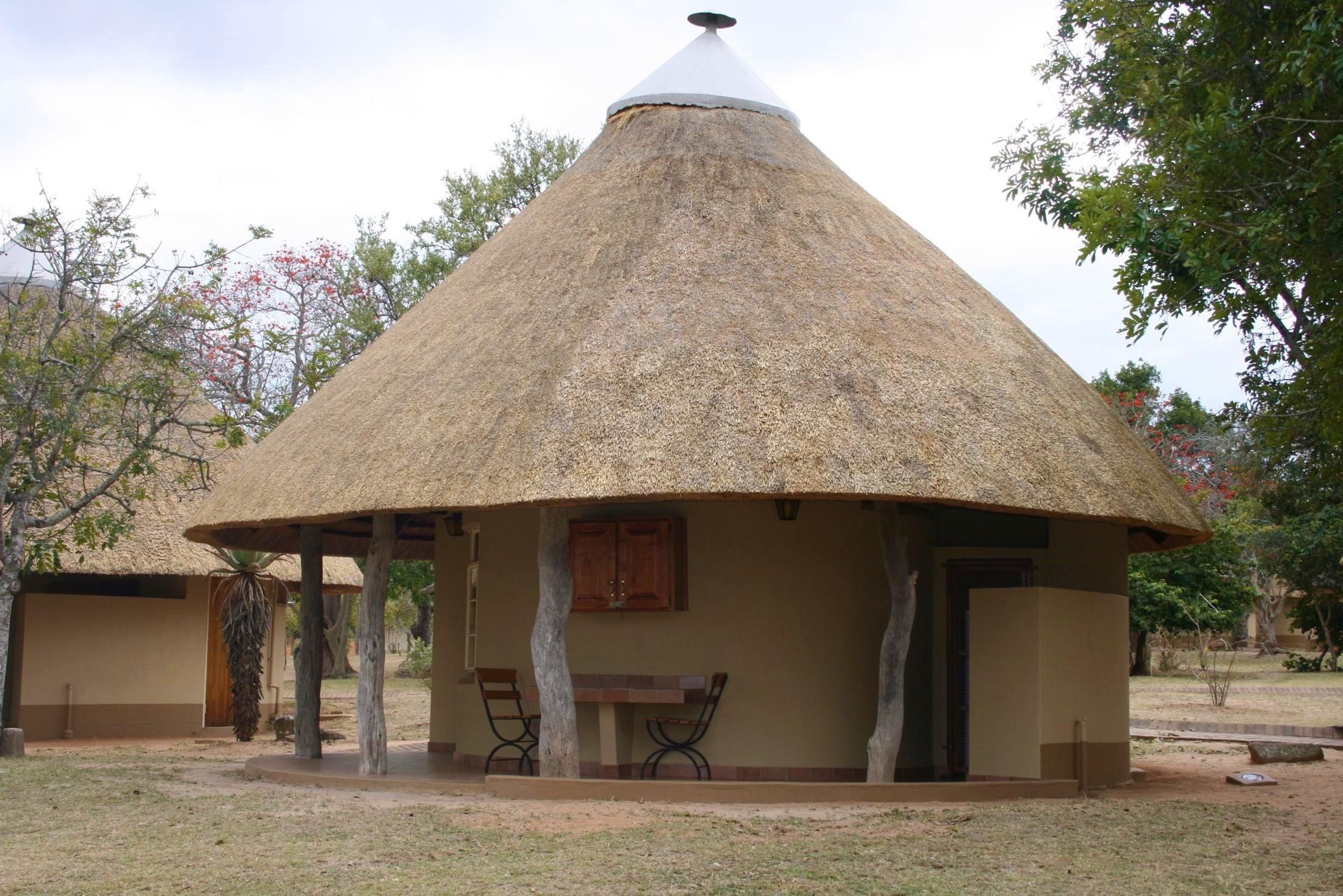Safari reizen Zuid-Afrika: Accommodatie in de nationale parken: eenvoudig maar praktisch.