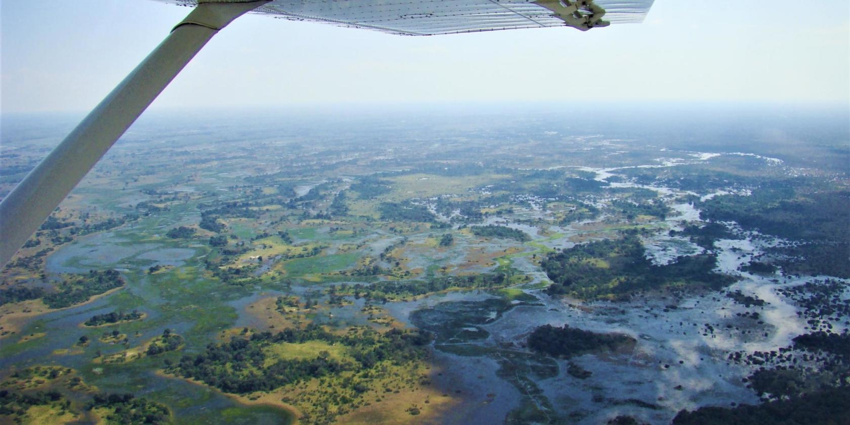 Okavango Delta - Uitzicht vanuit vliegtuig
