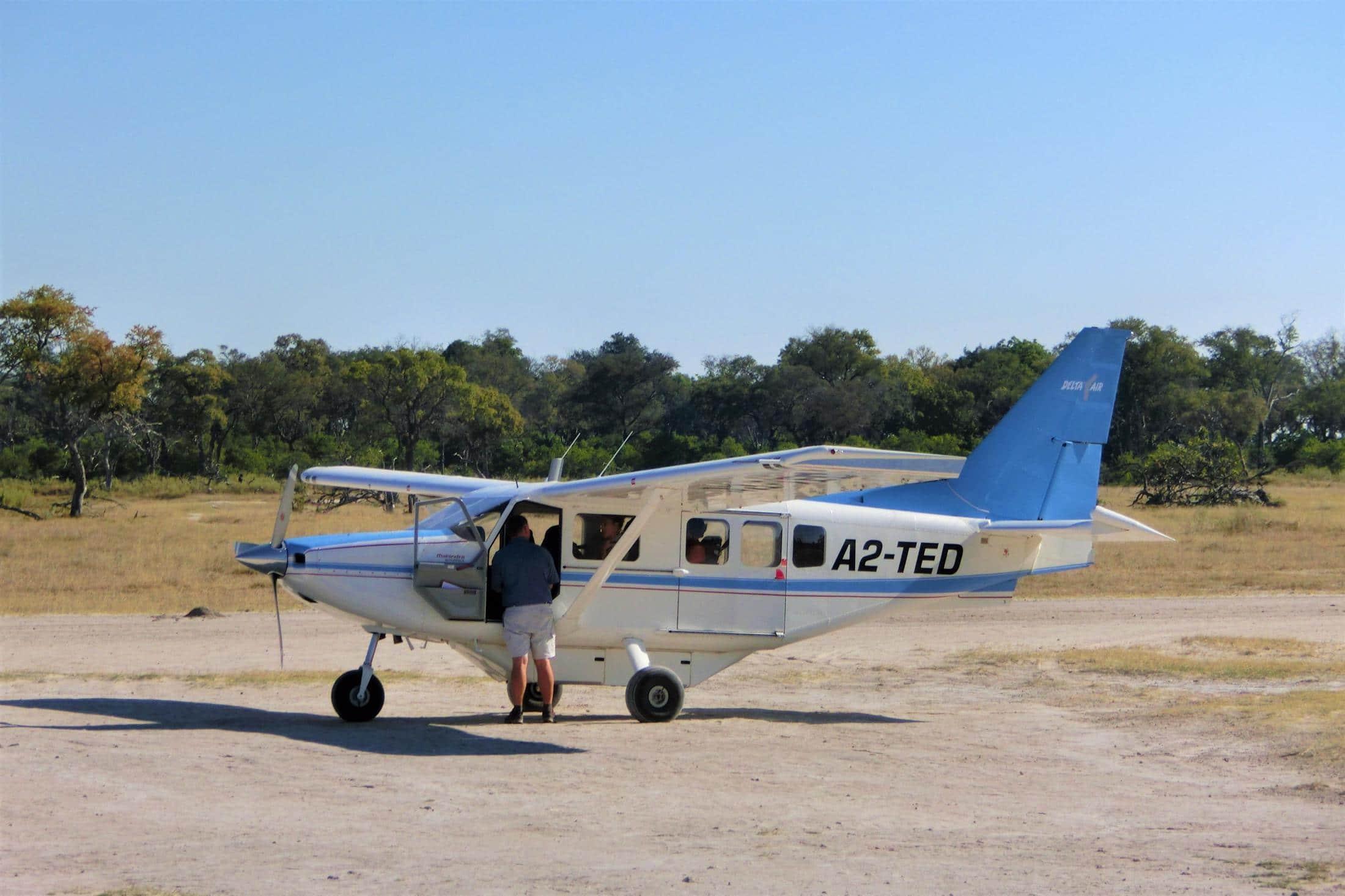Safari reizen Botswan - Okavango Delta - Fly-in safari vliegtuig