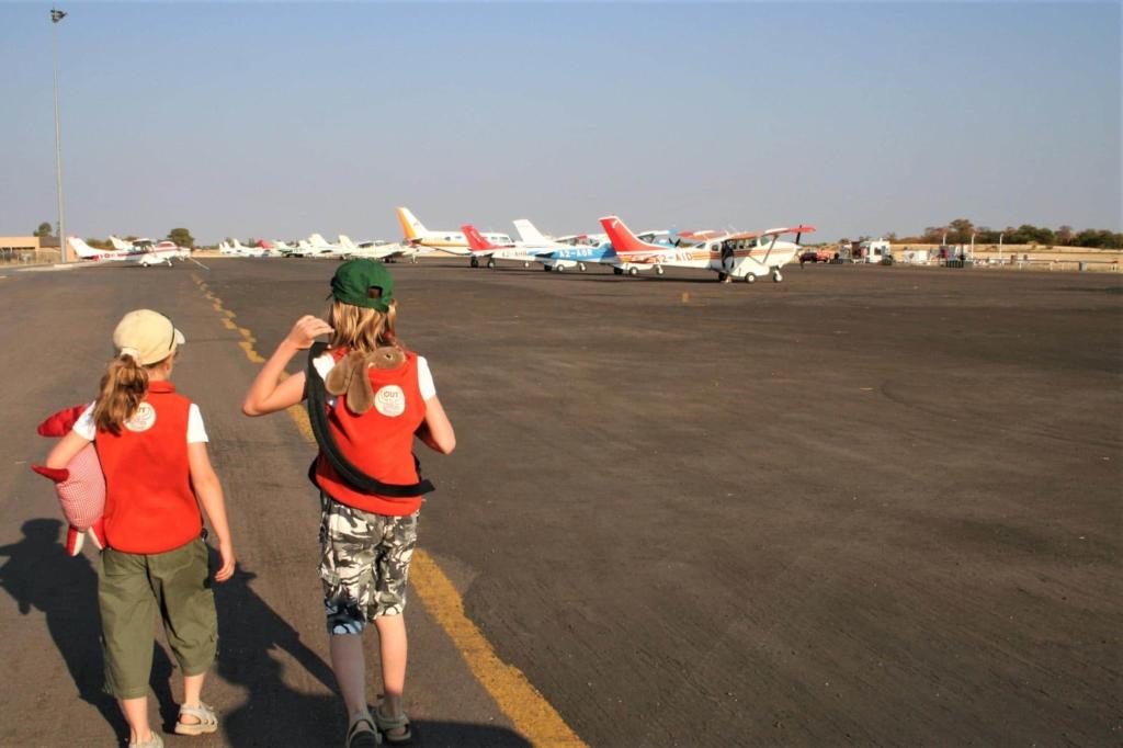 Meest geschikte landen vakantie Afrika met kids - Fly-in safari Okavango Delta
