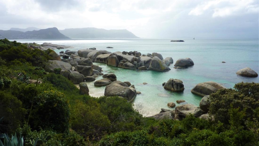 Kaapstad - Boulders Beach uitzicht