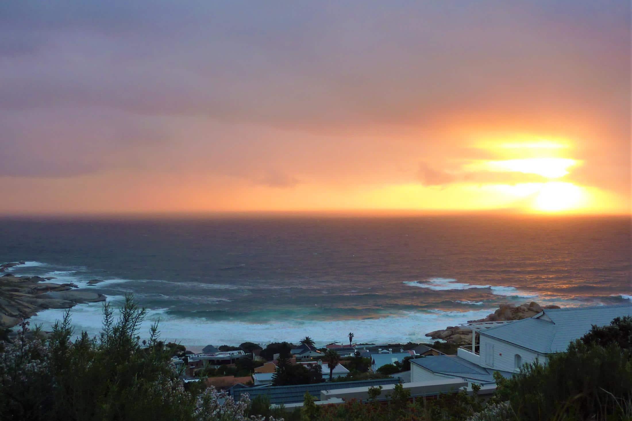 Beste reistijd Zuid-Afrika - Zonsondergang over Atlantische Oceaan bij Chapman's Peak, Kaapstad