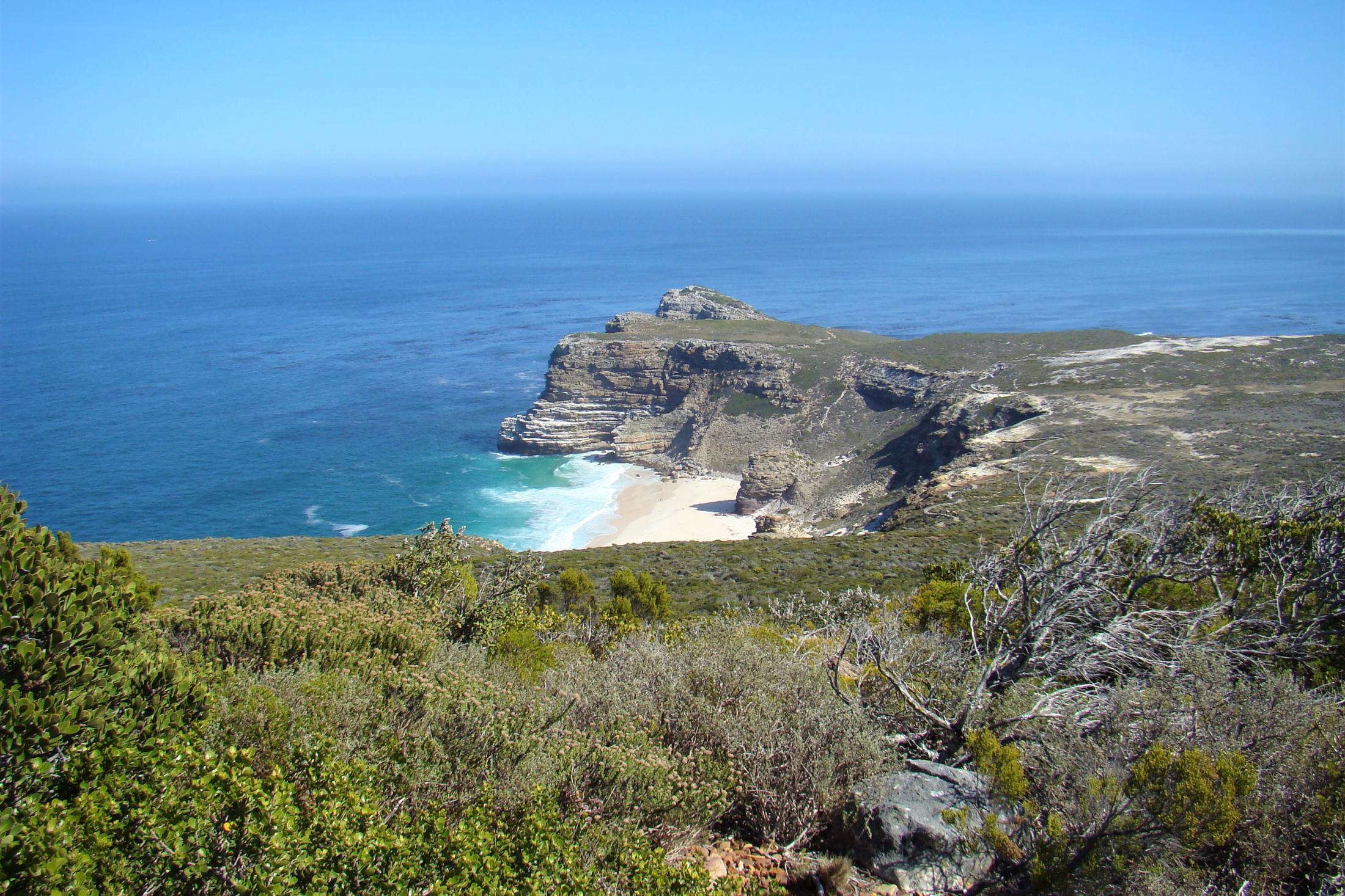 Rondreizen Zuid-Afrika + Botswana - Starten in Kaapstad, uitzicht vanaf Cape Point