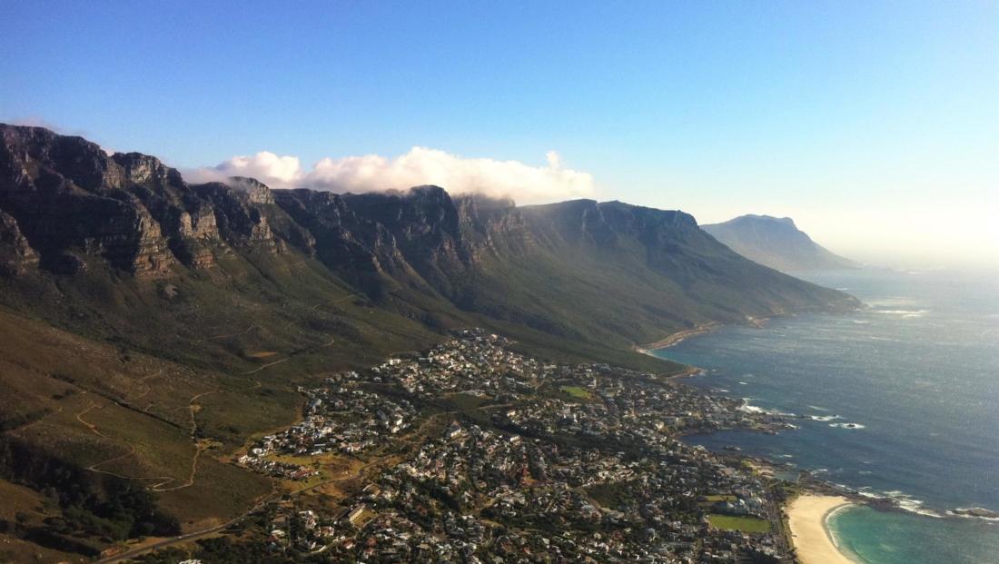 Kaapstad - Uitzicht over Camps Bay