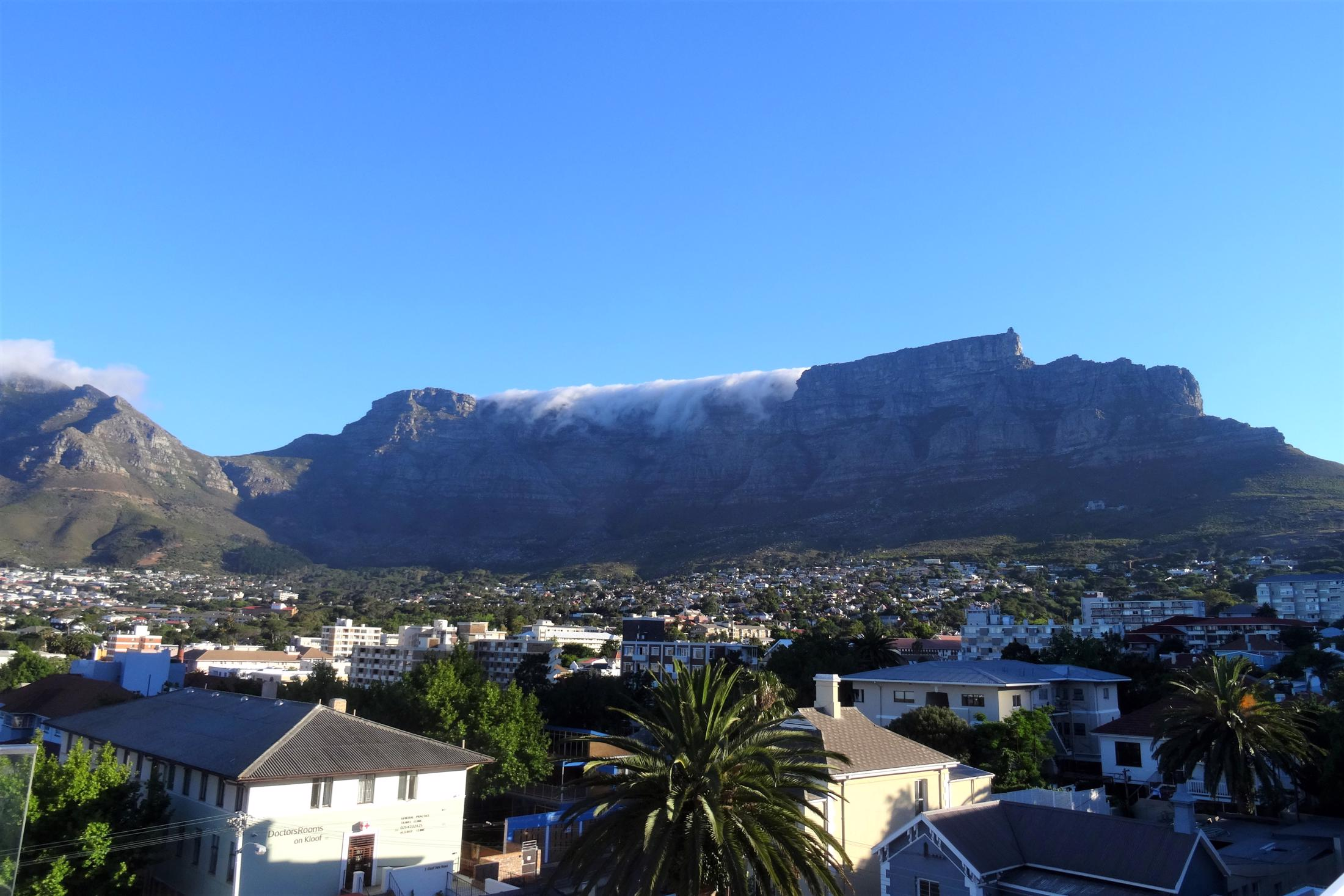 Huwelijksreizen Botswana - Combinatie met Kaapstad - Tafelberg met deels tafelkleed
