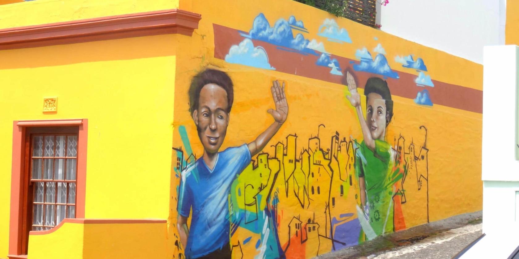 Kaapstad - Muurschildering Bo-Kaap