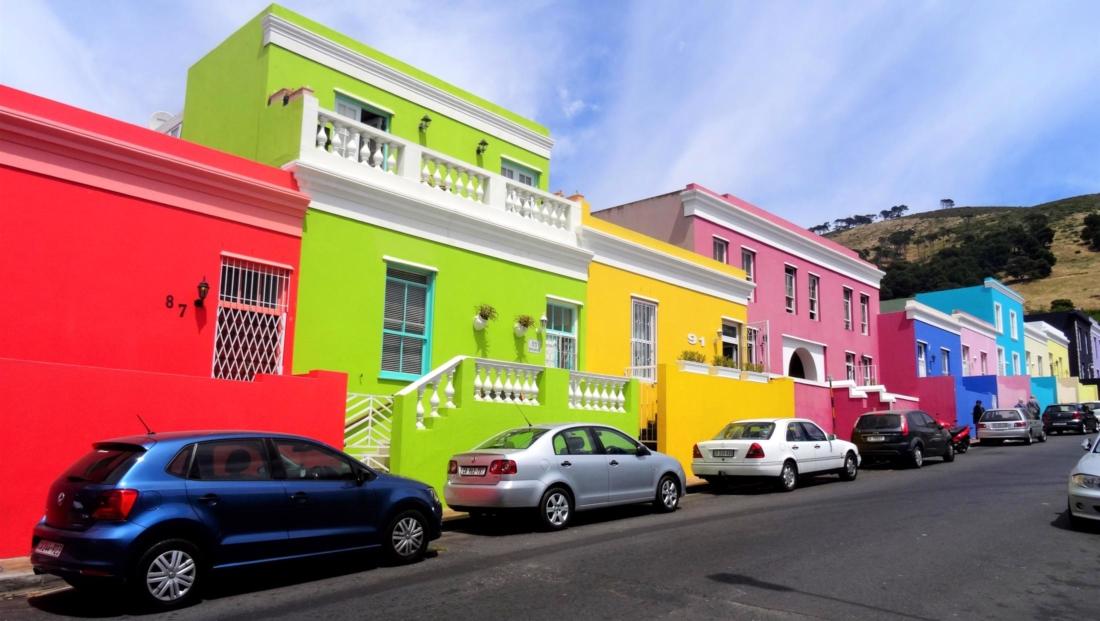 Kaapstad - Kleurrijke huizen in Bo-Kaap