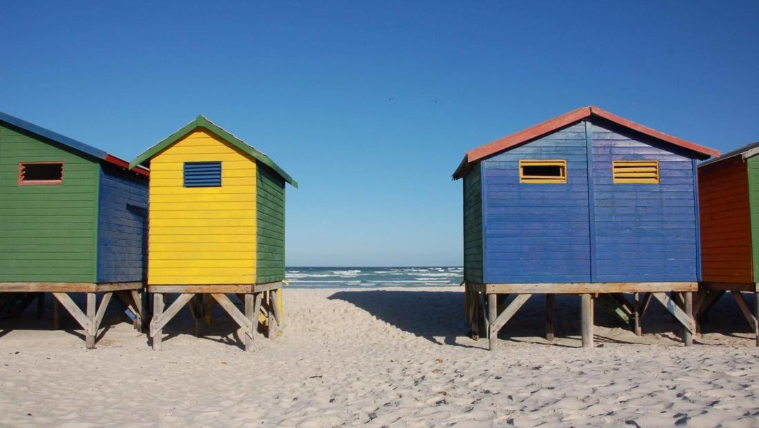 Kaapstad - Gekleurde strandhuisjes Muizenberg