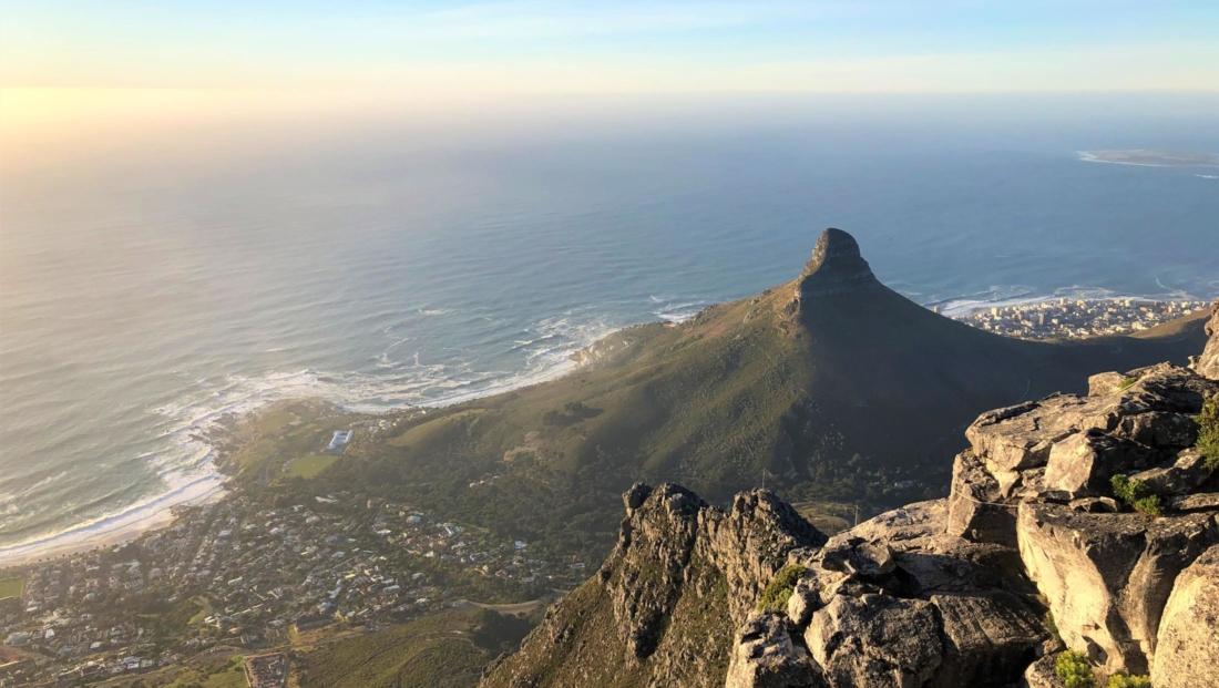 Kaapstad - Lion's Head Tafelberg bij zonsondergang