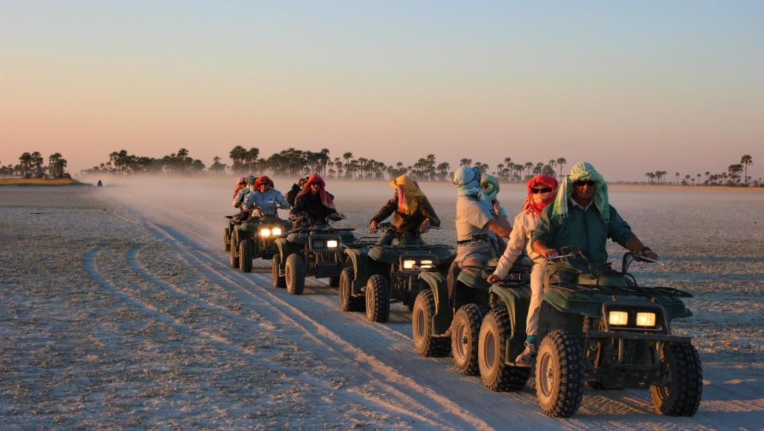 Makgadikgadi Zoutpannen - Quad bike tocht over de vlaktes