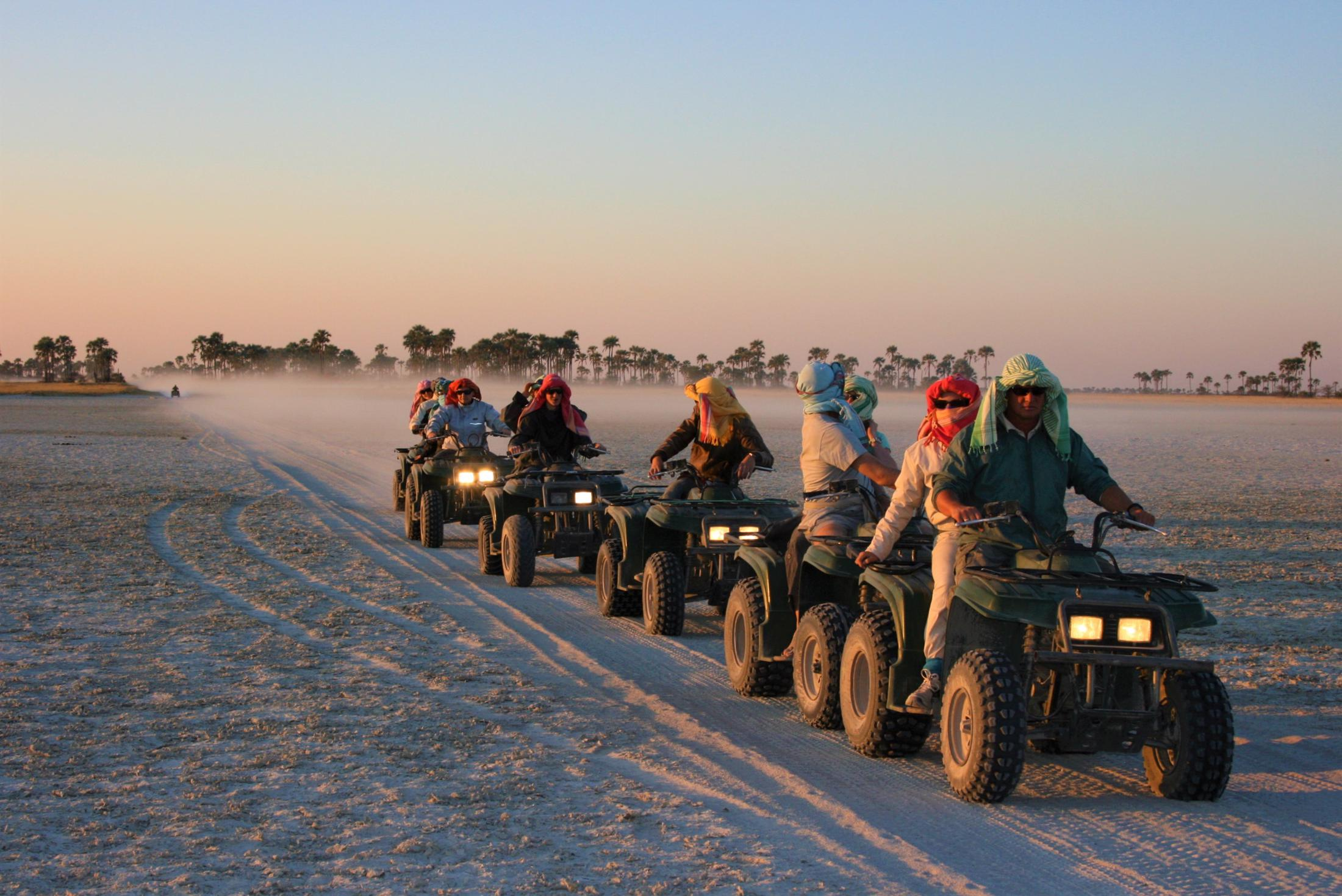 Individuele reizen Botswana - Quad bike tocht Makgadikgadi Zoutpannen