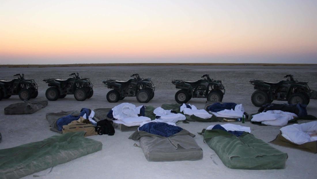 Makgadikgadi Zoutpannen - De ochtend na de nacht onder de sterren