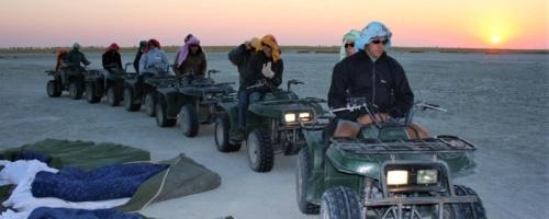 Makgadikgadi Zoutpannen - Klaar voor de tocht terug naar de lodge