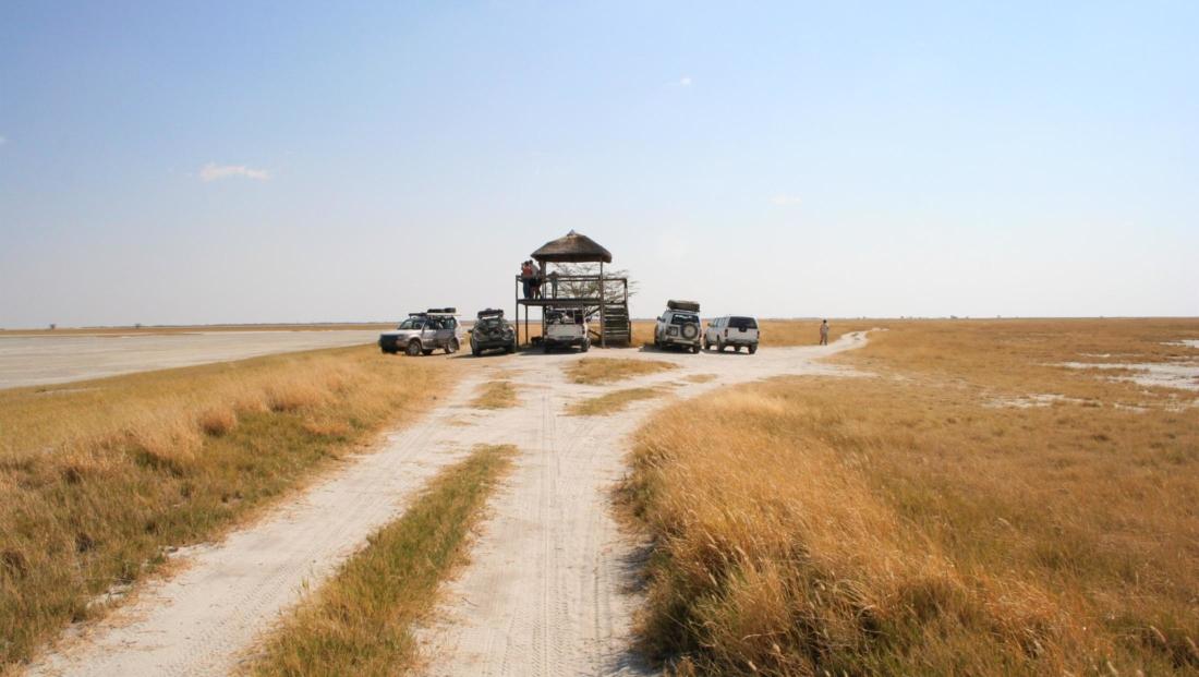 Makgadikgadi Zoutpannen - Uitkijktoren