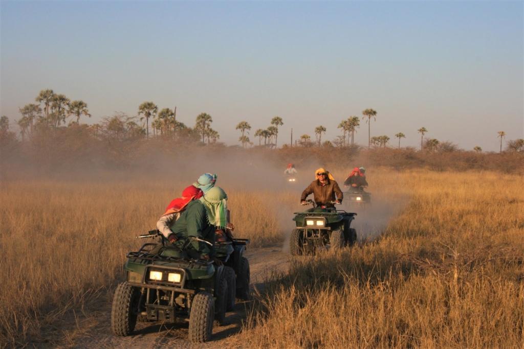 Leukste activiteiten Botswana - Makgadikgadi Zoutpannen - Quad bike tocht door het gras