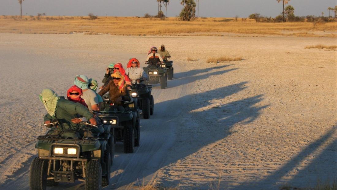 Makgadikgadi Zoutpannen - Quad bike tocht
