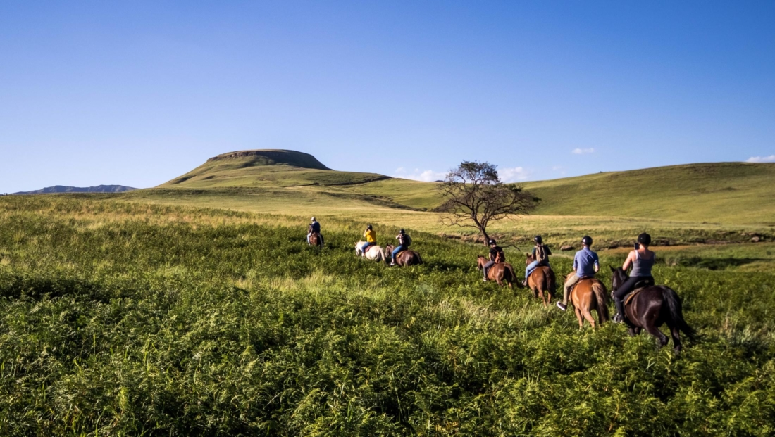 Montusi - Paardrijden door de bergen