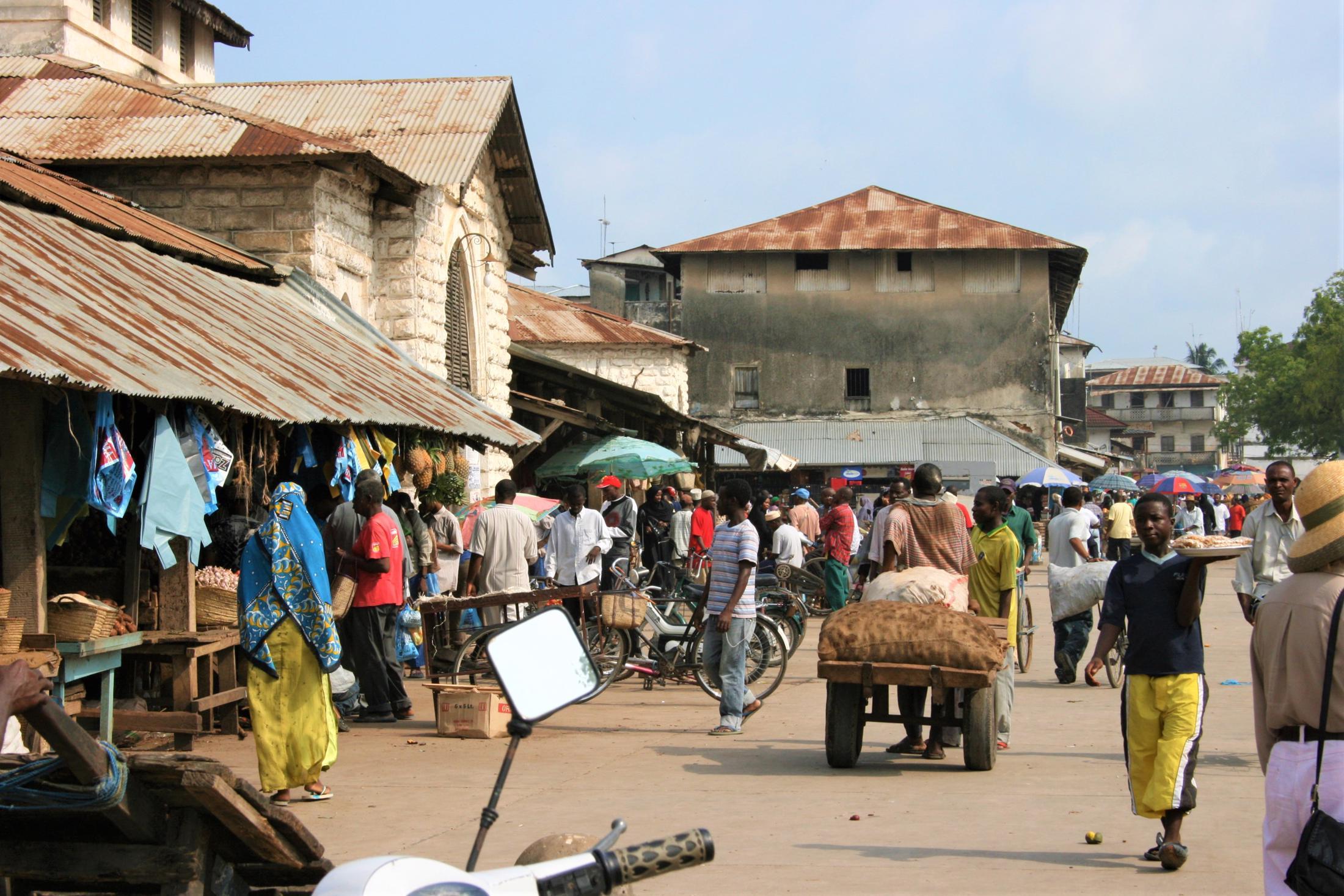 Kindvriendelijke reizen Tanzania - Markt in Stone Town, Zanzibar