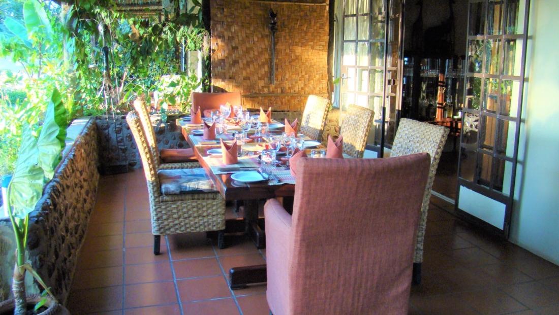 Garden Lodge - Ontbijttafel